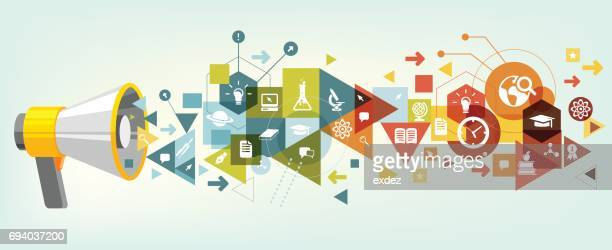 educational promotion - publicity event stock illustrations