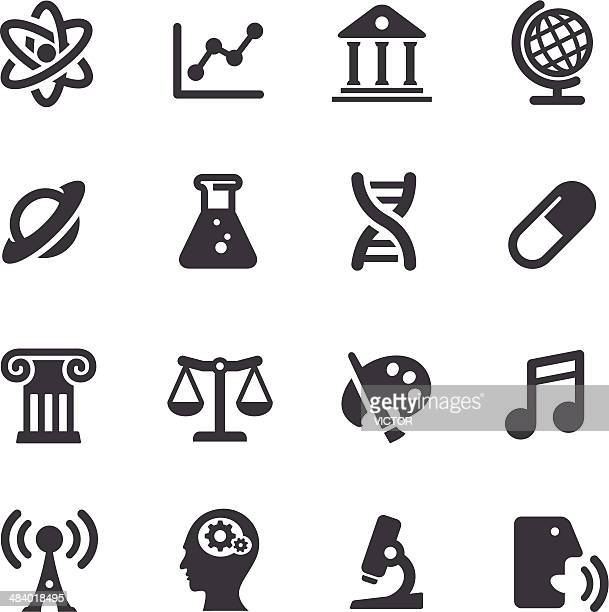 educational subjects icons - acme series - history stock illustrations
