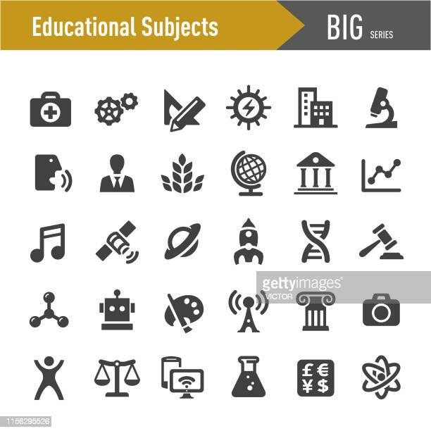 educational subjects icons - big series - history stock illustrations