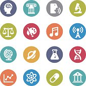 Educational Subjects Icons - Circle Series