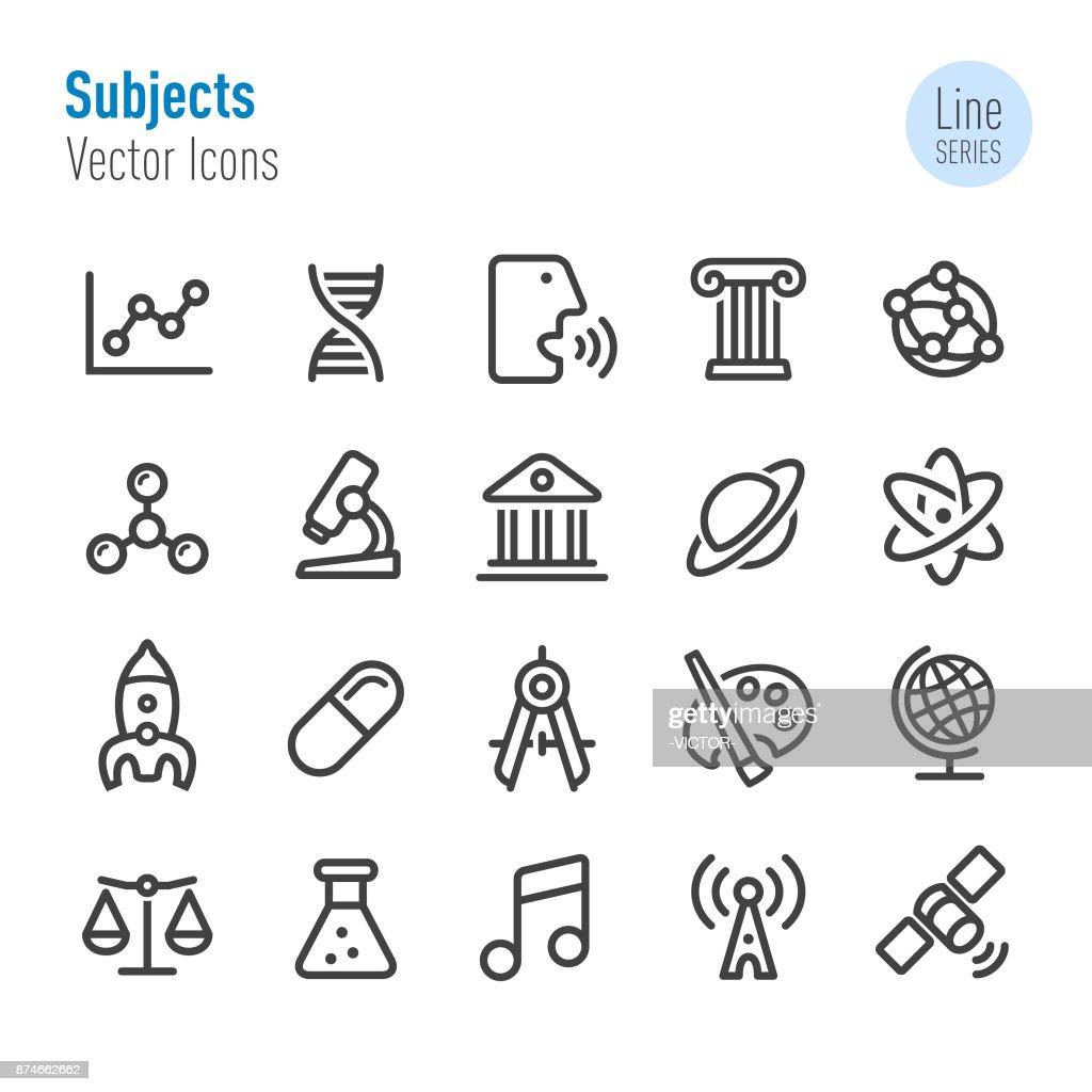 Educatieve onderwerpen Icons - Line serie : Stockillustraties
