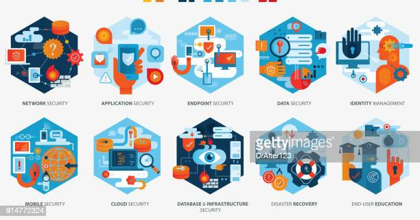 Effective Cyber Security Icons Horizontal