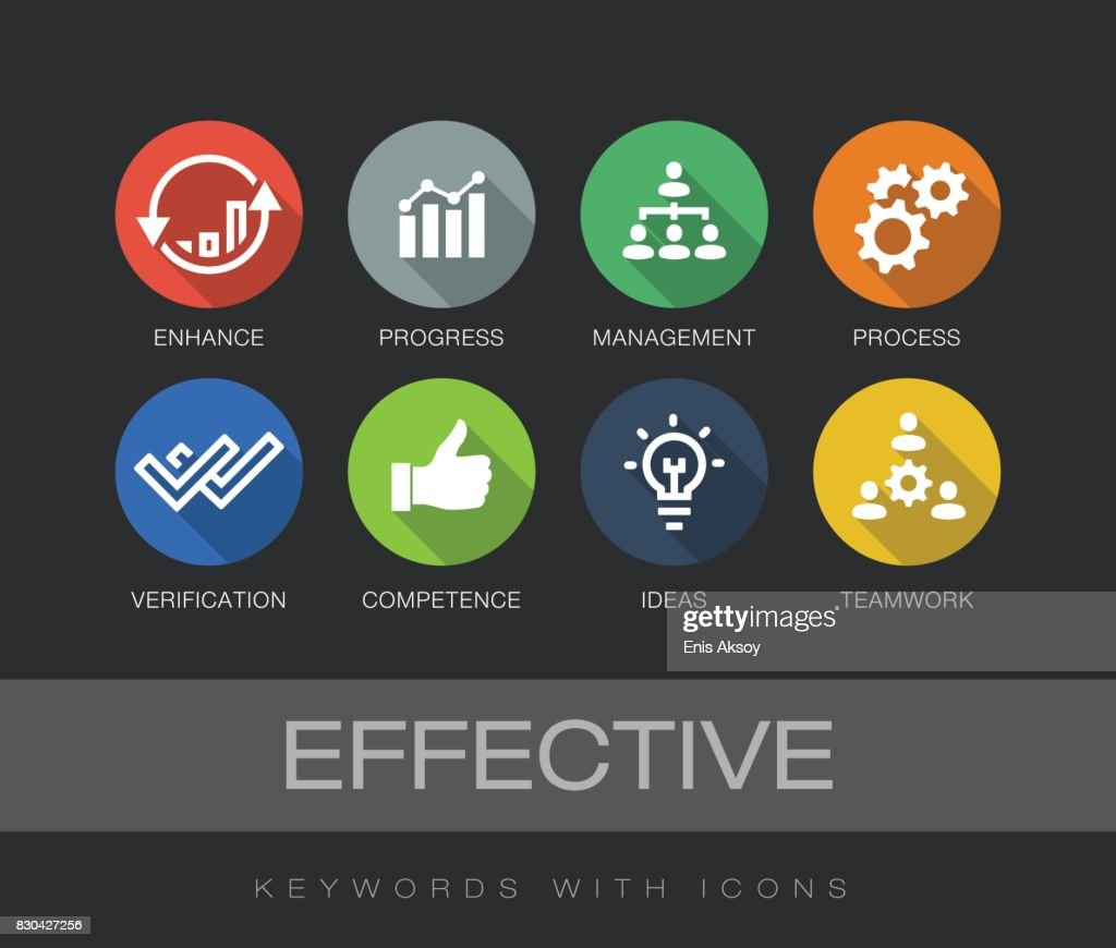 Effective keywords with icons : stock illustration
