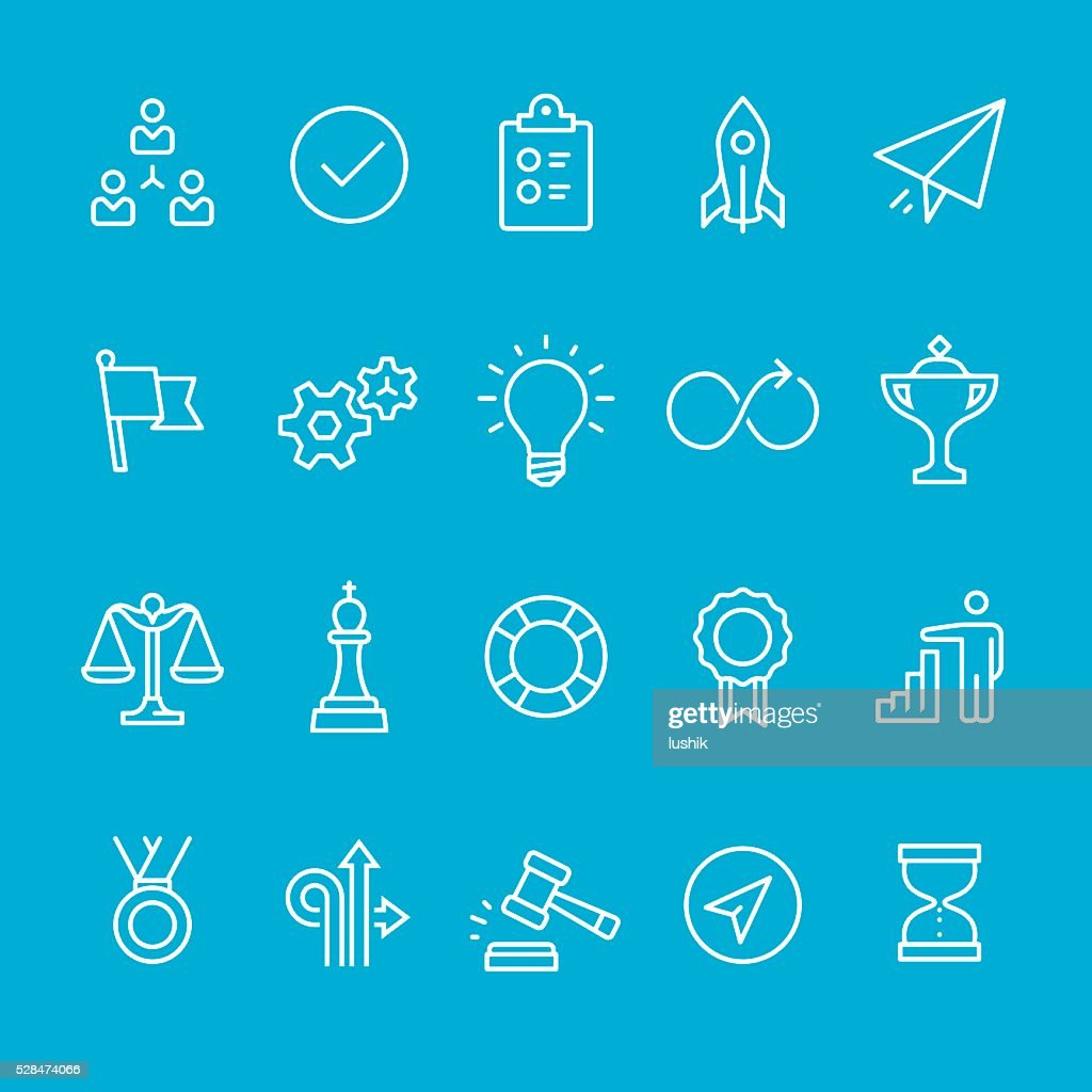 Efficiency at Work icons collection