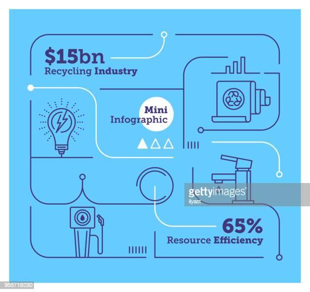 efficiency mini infographic - generator stock illustrations