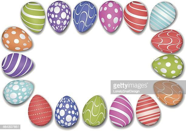 egg frame - easter egg stock illustrations, clip art, cartoons, & icons
