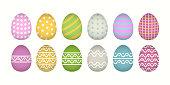 Egg icon cartoon set illustration isolated