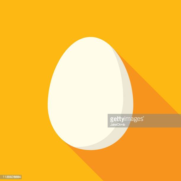 egg icon flat - easter stock illustrations