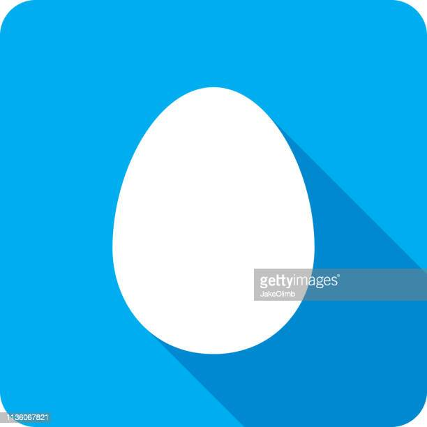 egg icon silhouette - animal egg stock illustrations, clip art, cartoons, & icons