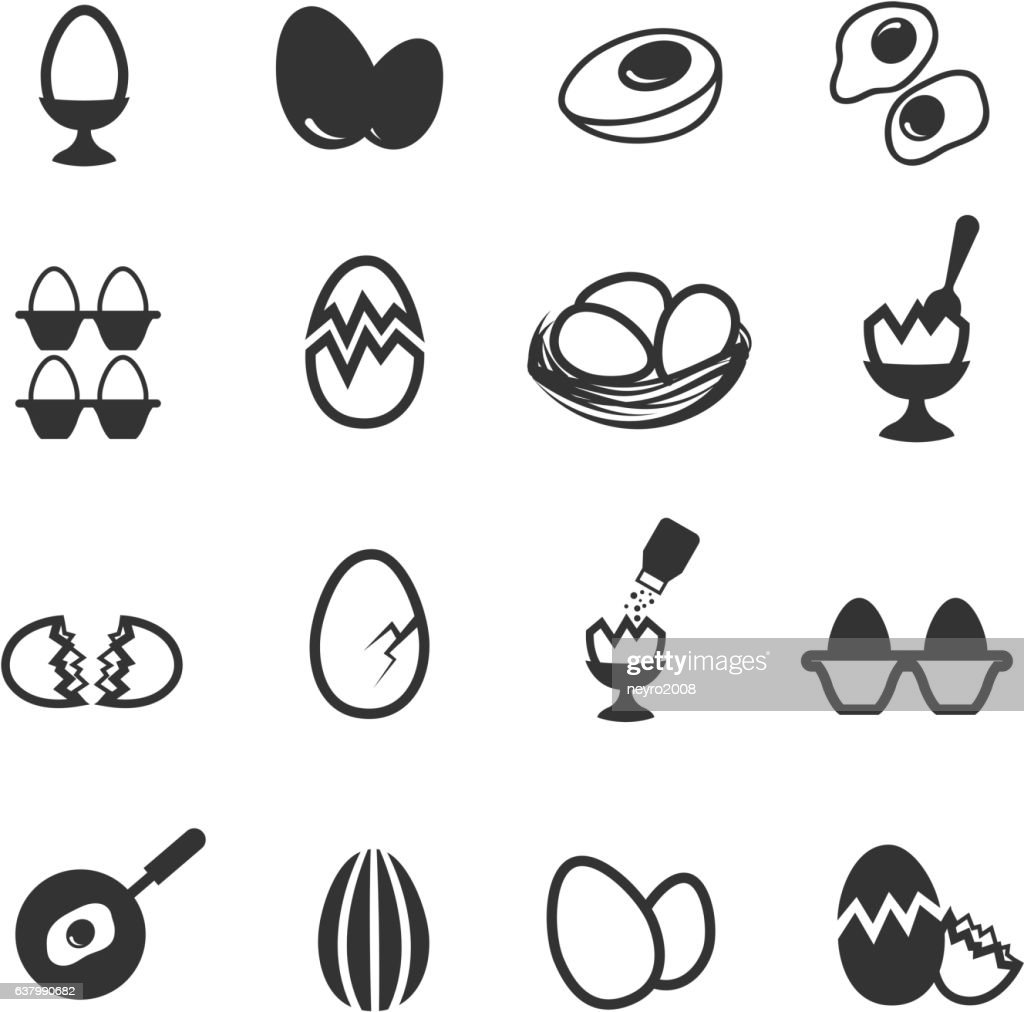 Egg icons set