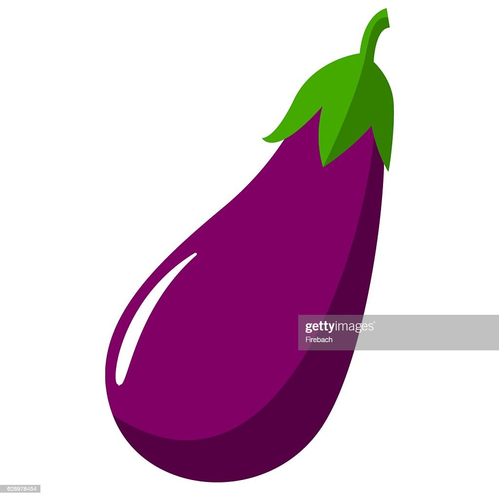 Eggplant Aubergine Vegetable Vector Sign