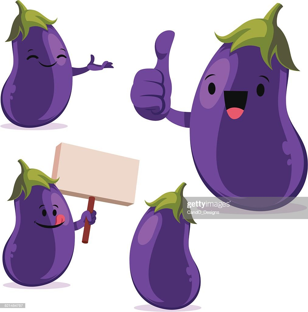 Eggplant Cartoon Set C