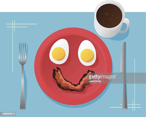 Eggs and Bacon Face Happy