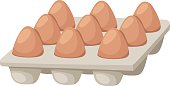 Eggs box vector illustration