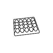 eggs carton black icon on white background
