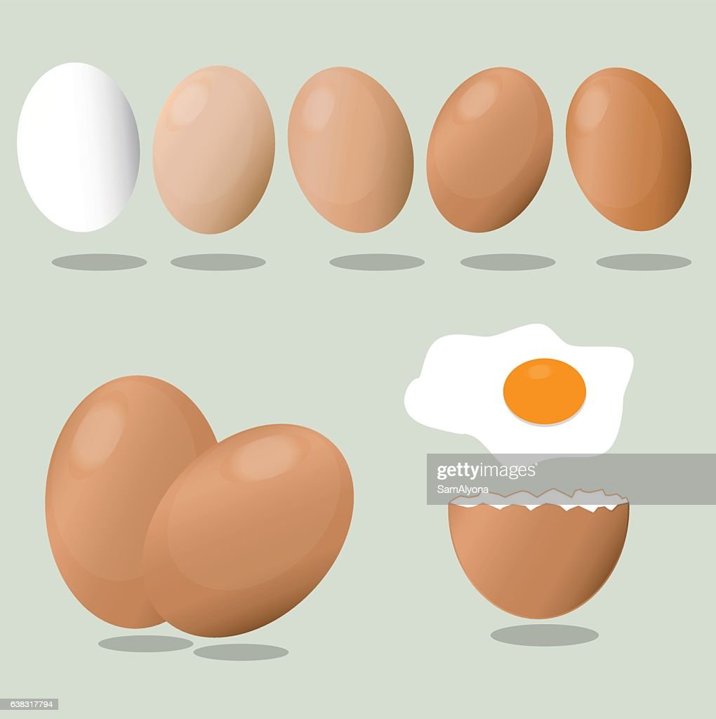 Eggs on a blue background. Crack eggs.
