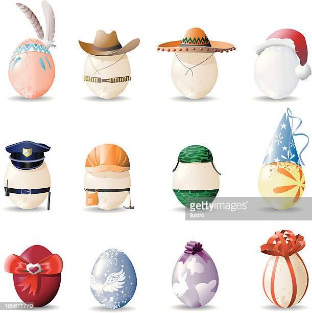 ilustrações, clipart, desenhos animados e ícones de ovos - sombreiro