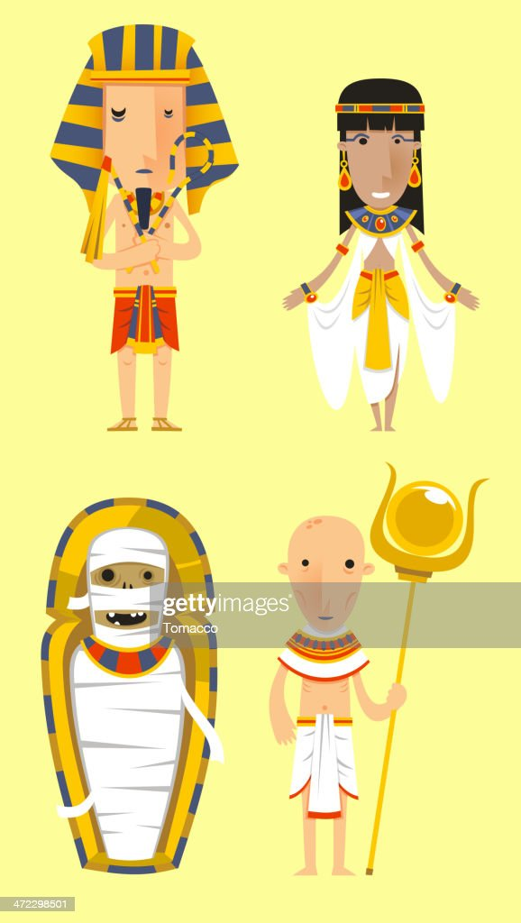Egypt Egyptian People Pharaoh Caduceo Clothes