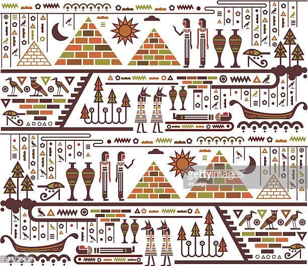 ilustrações, clipart, desenhos animados e ícones de elementos do egito - cultura egípcia