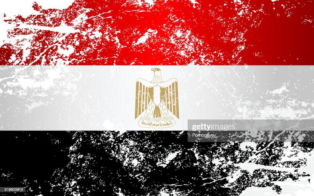 Egypt Grunge Texture Flag