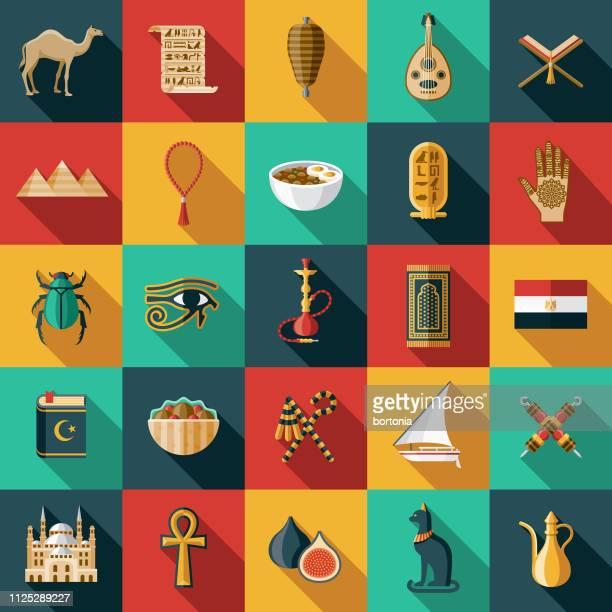 illustrations, cliparts, dessins animés et icônes de l'égypte icon set - hiéroglyphe