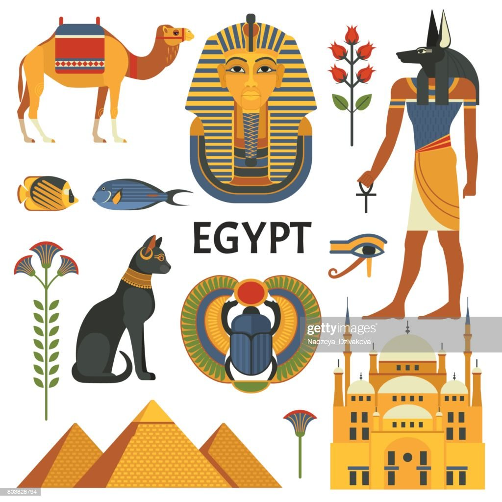 Egypt icons set.