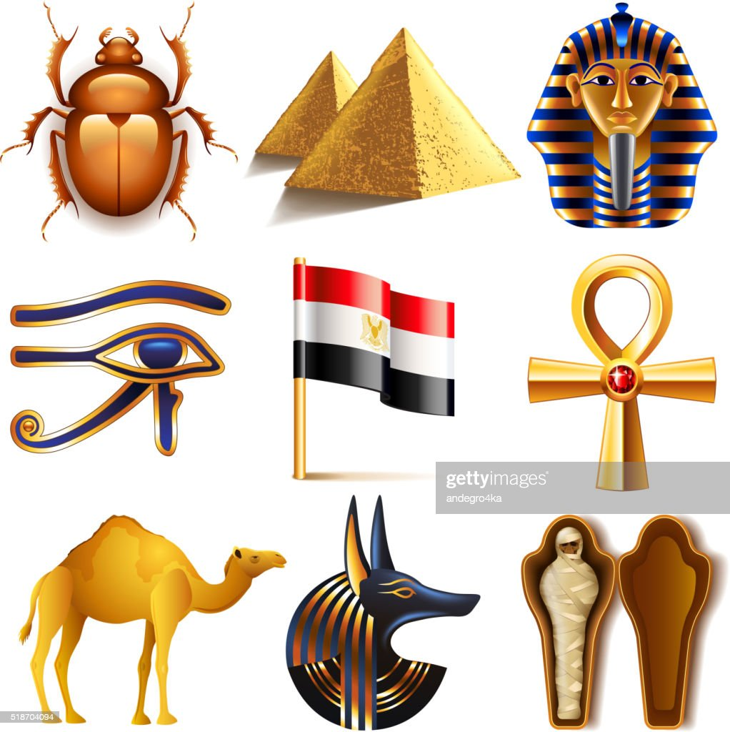 Egypt icons vector set