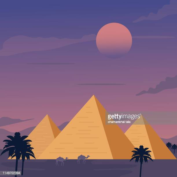 egypt - illustration - ancient stock illustrations
