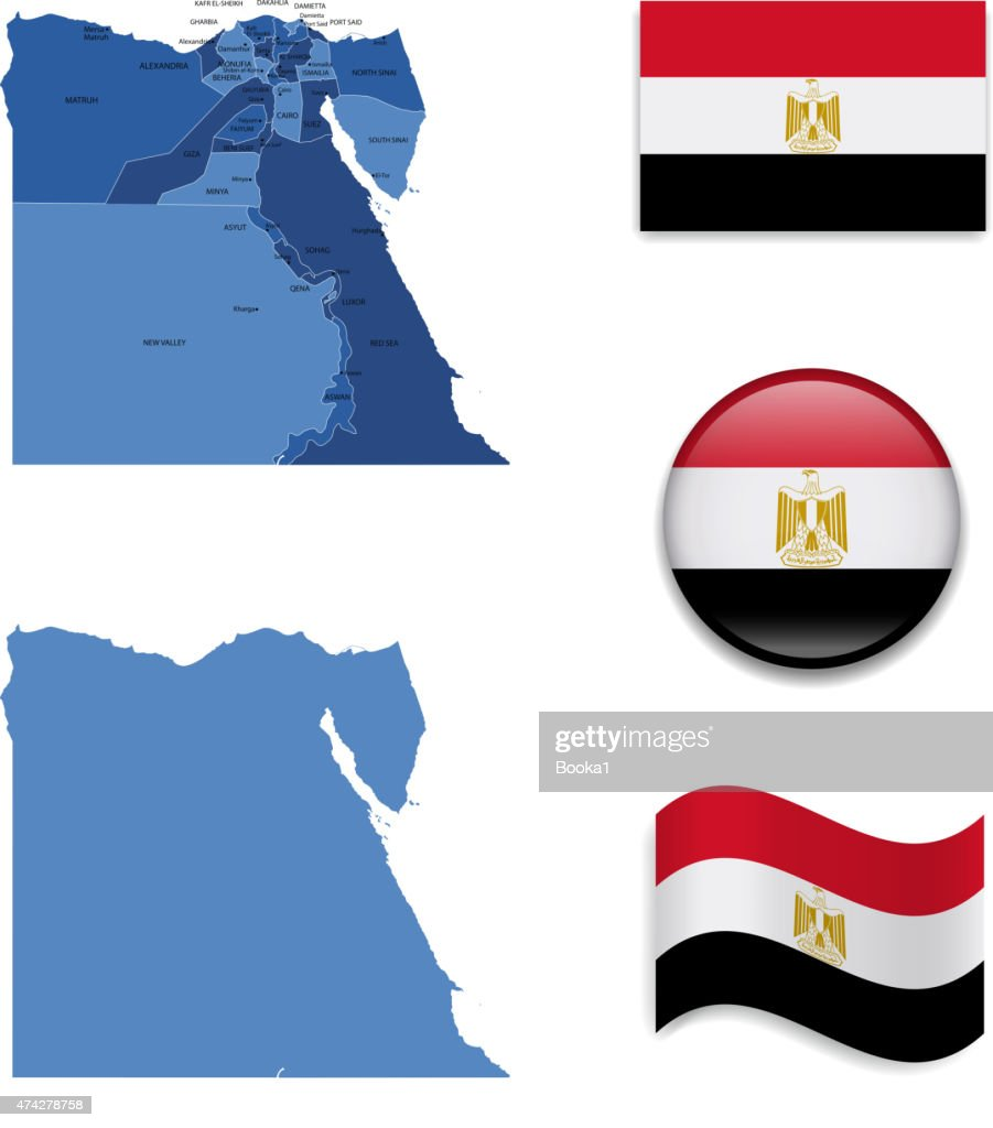 Egypt Map and Flag Collection