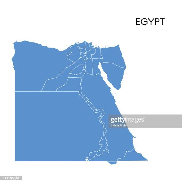 egypt map - egypt stock illustrations