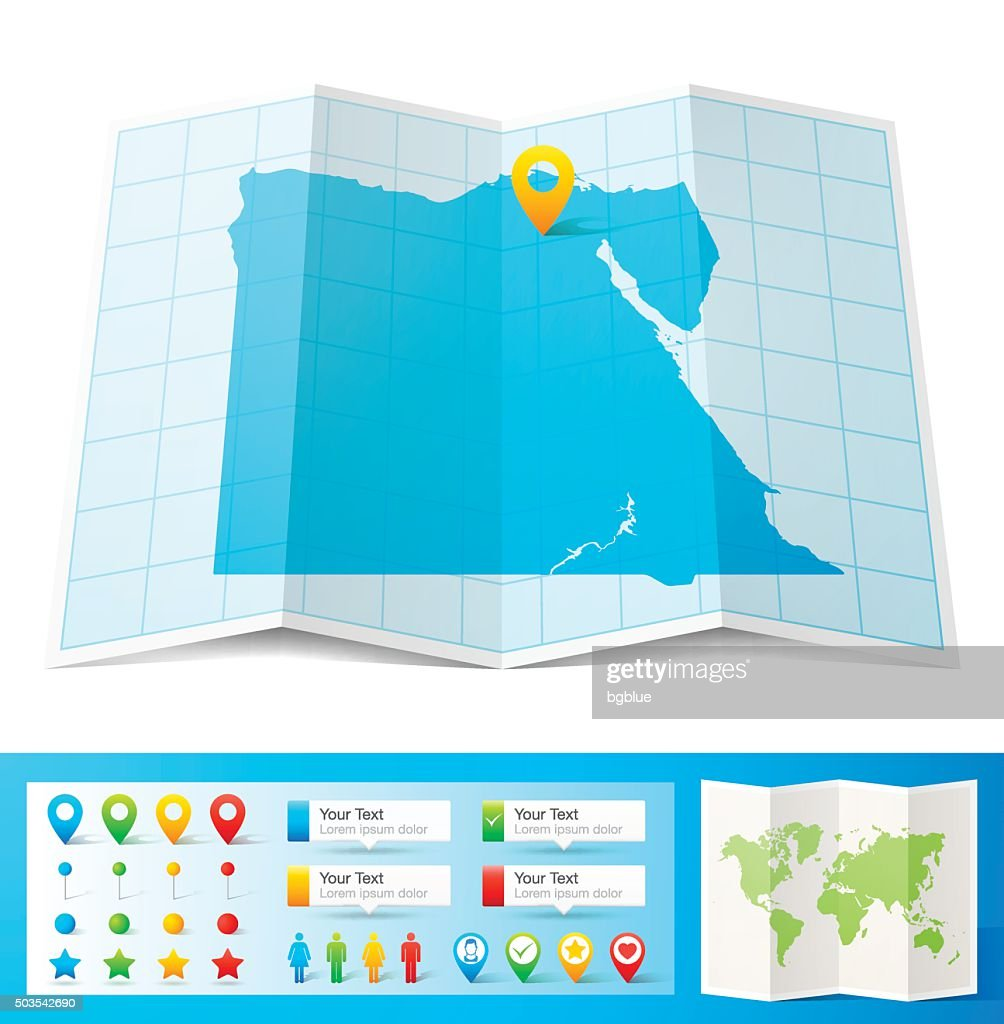 Picture of: Egypt Map With Location Pins Isolated On White Background High Res Vector Graphic Getty Images