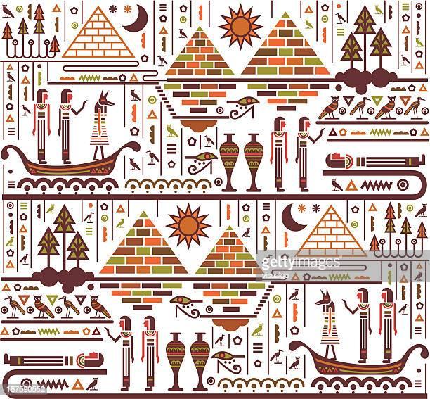 ilustrações, clipart, desenhos animados e ícones de mural do egito - cultura egípcia