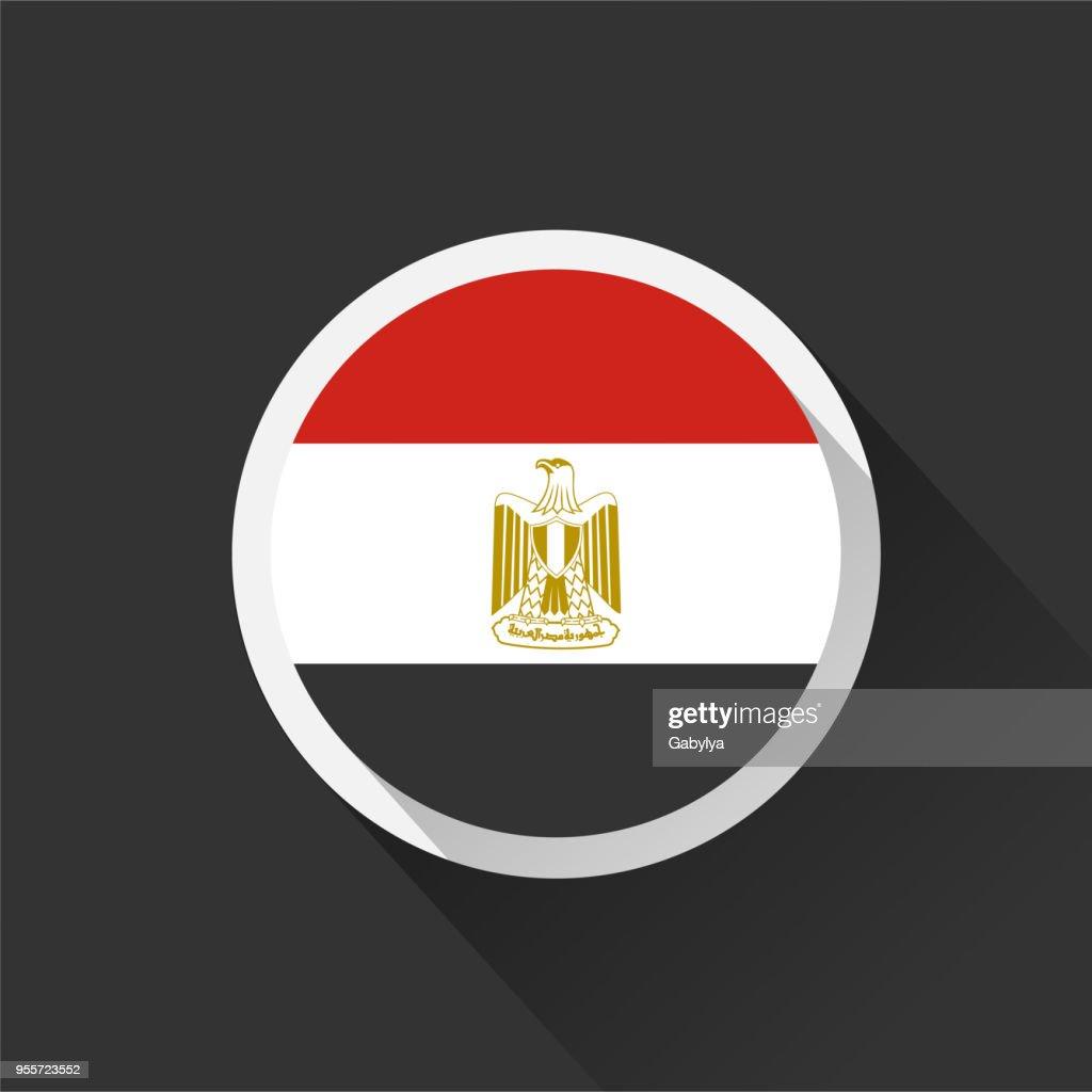 Egypt national flag on dark background.