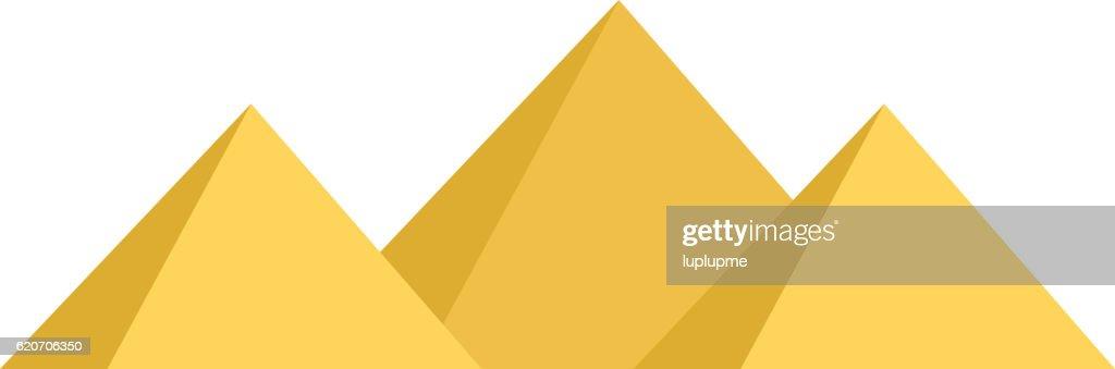 Egypt pyramids vector illustration