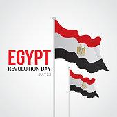 Egypt Revolution Day Vector Illustration