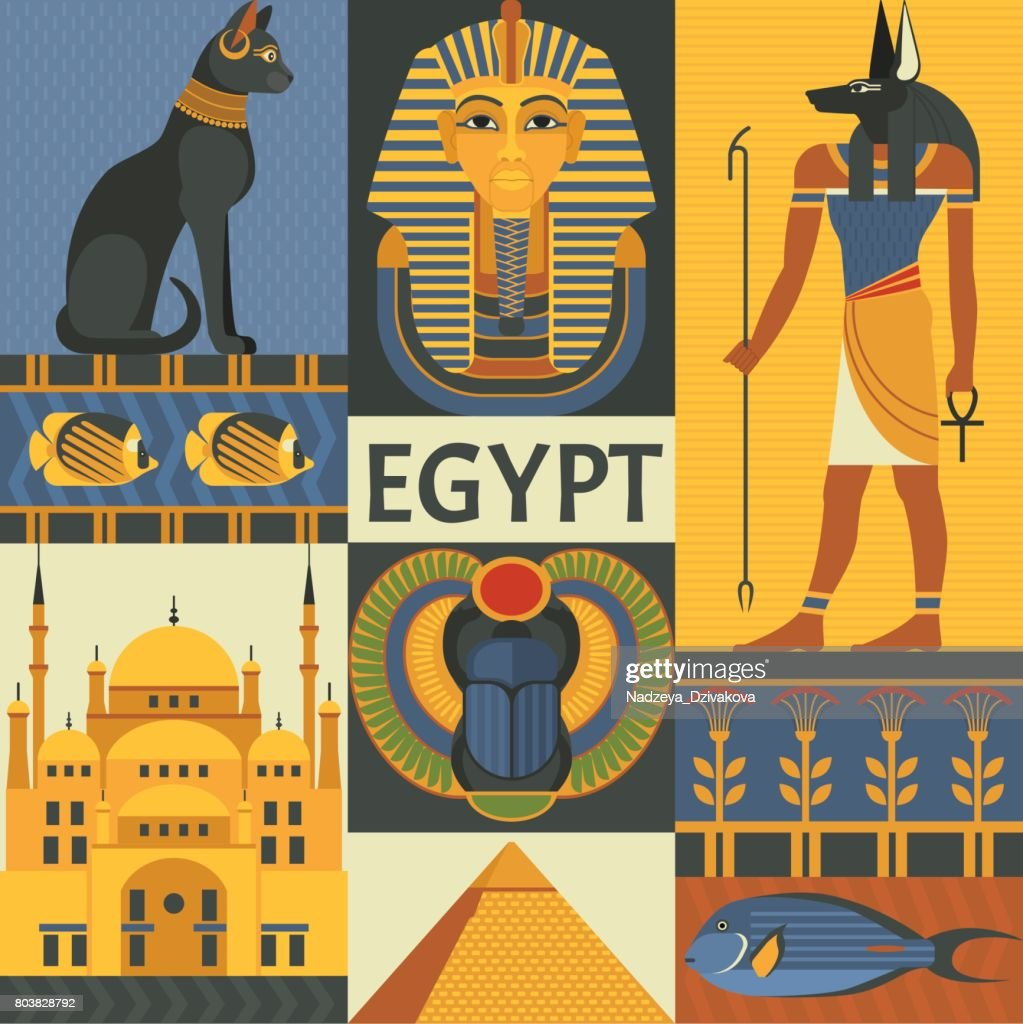 Egypt travel poster concept.