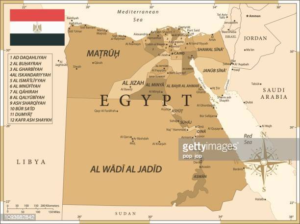 25 -egypt - vintage golden 10 - thebes egypt stock illustrations