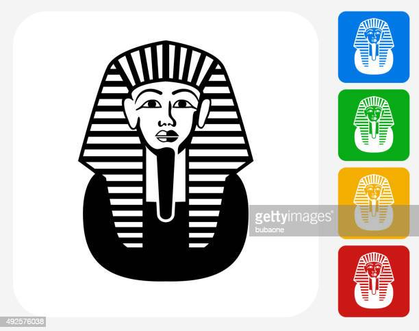 egyptian coffin icon flat graphic design - sarcophagus stock illustrations