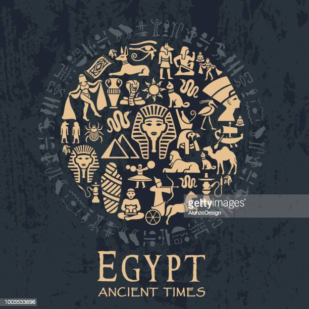 egyptian collage - egypt stock illustrations