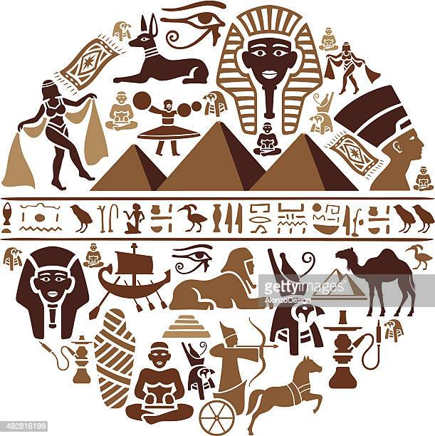 egyptian collage - the sphinx stock illustrations, clip art, cartoons, & icons