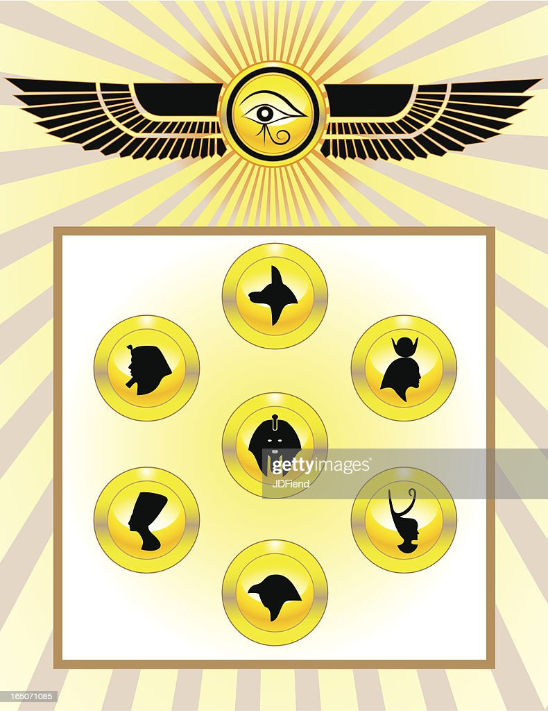 Egyptian Gods Icon Set