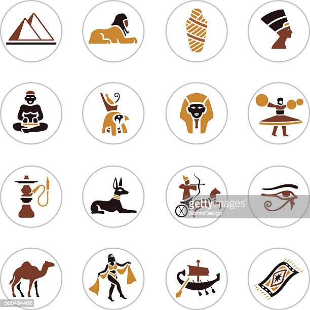 egyptian icons - the sphinx stock illustrations, clip art, cartoons, & icons