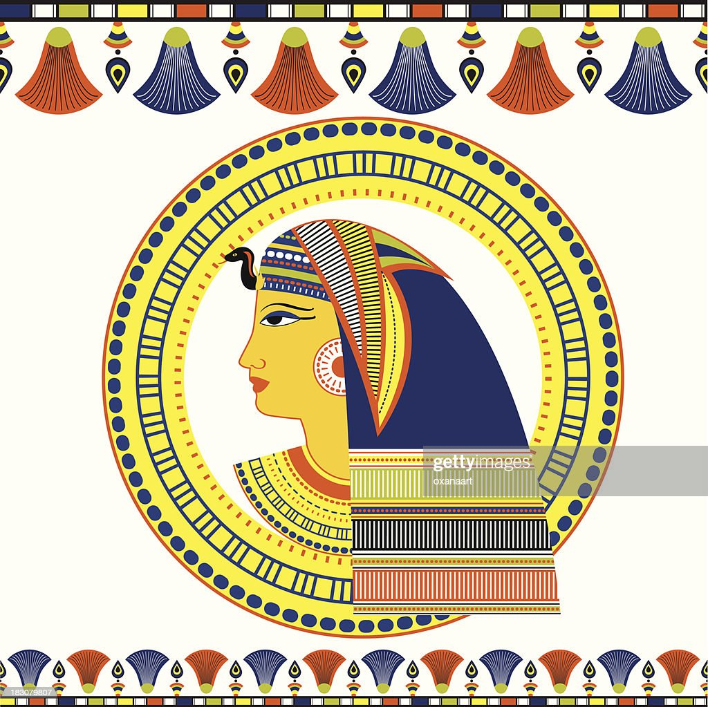 Egyptian Pharaoh head with traditional ornament