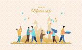 Eid al-Fitr greeting card vector