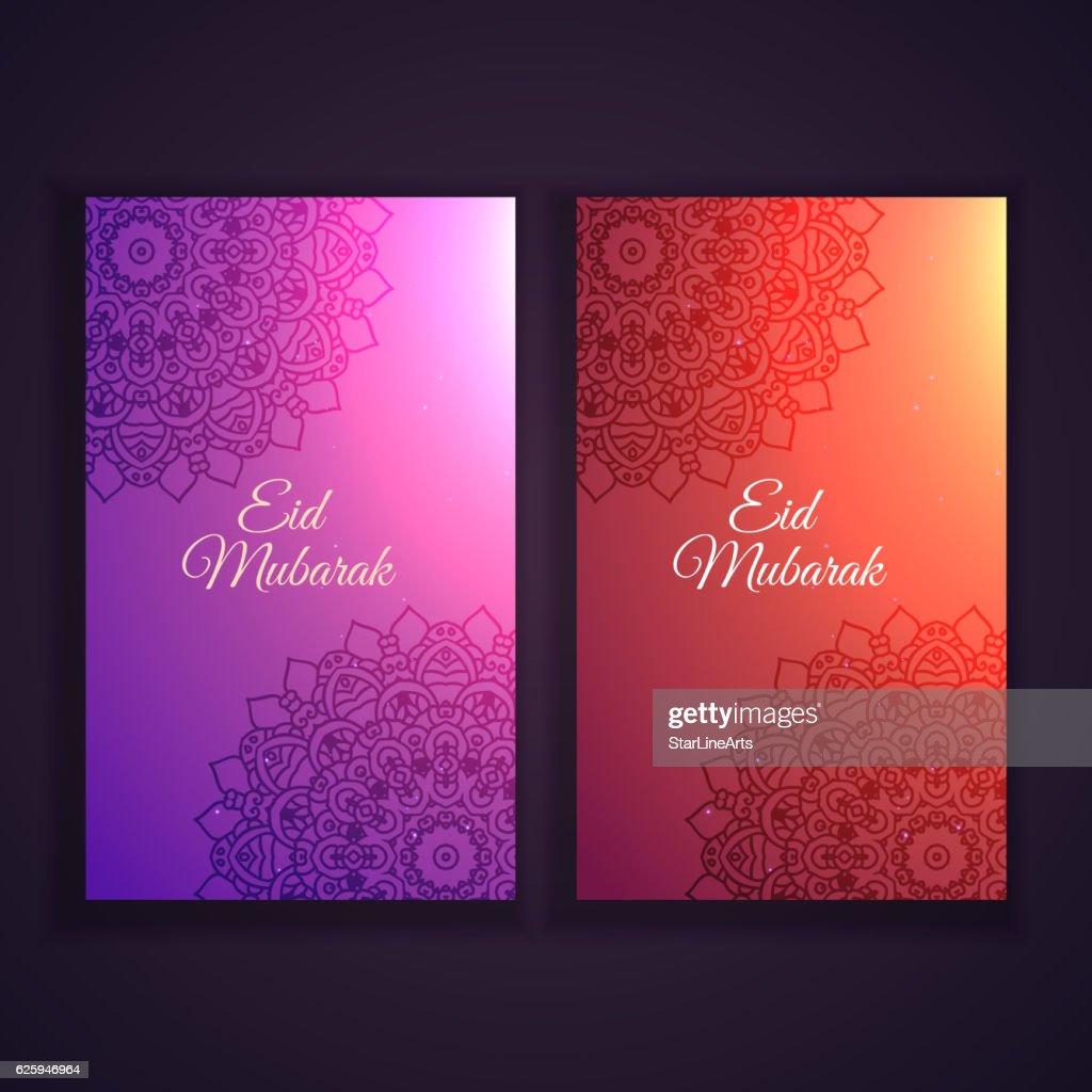 eid festival banners set