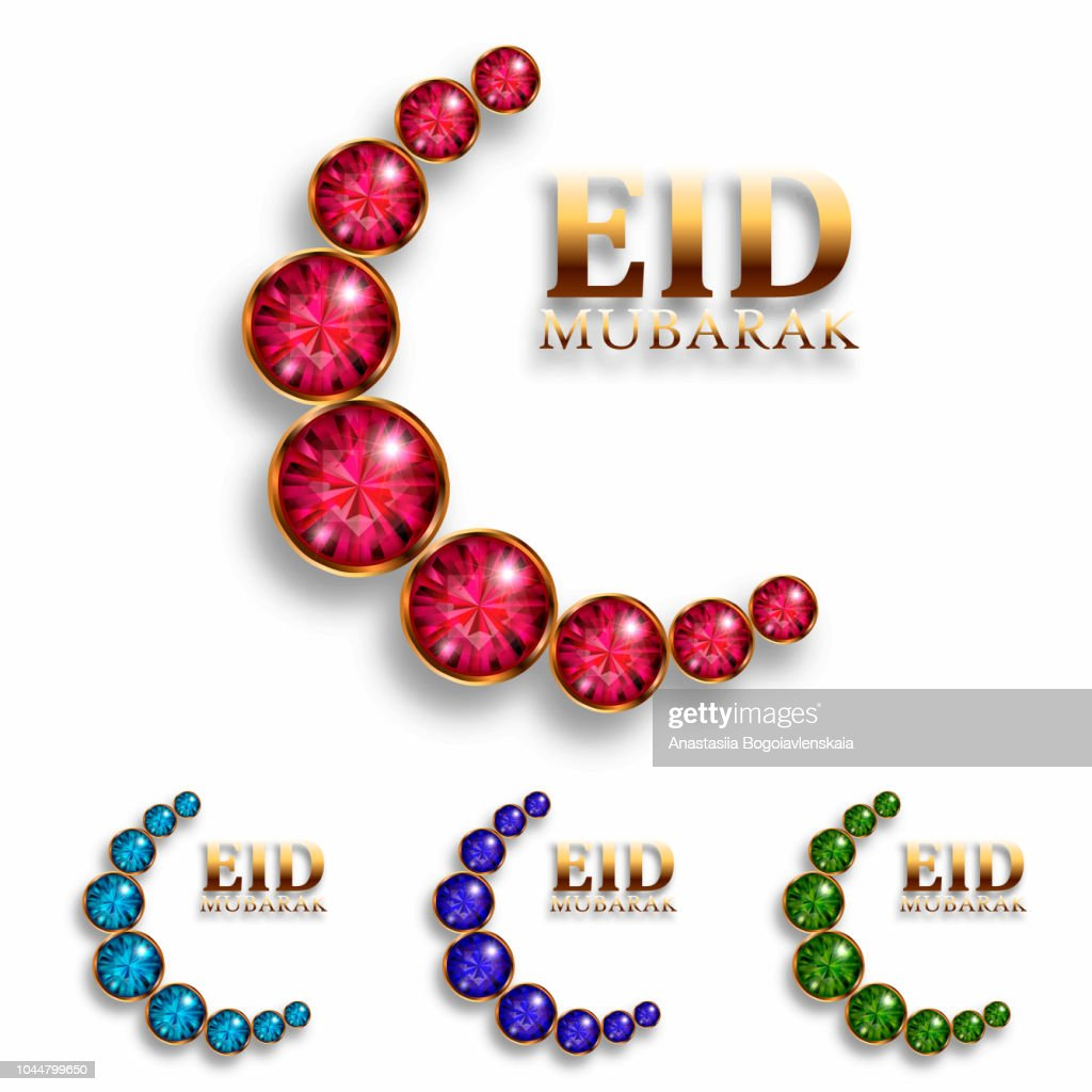eid mubarak festival premium greeting design illustration