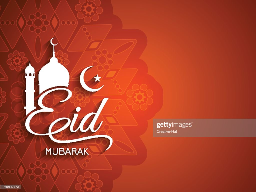 Eid Mubarak greeting card design