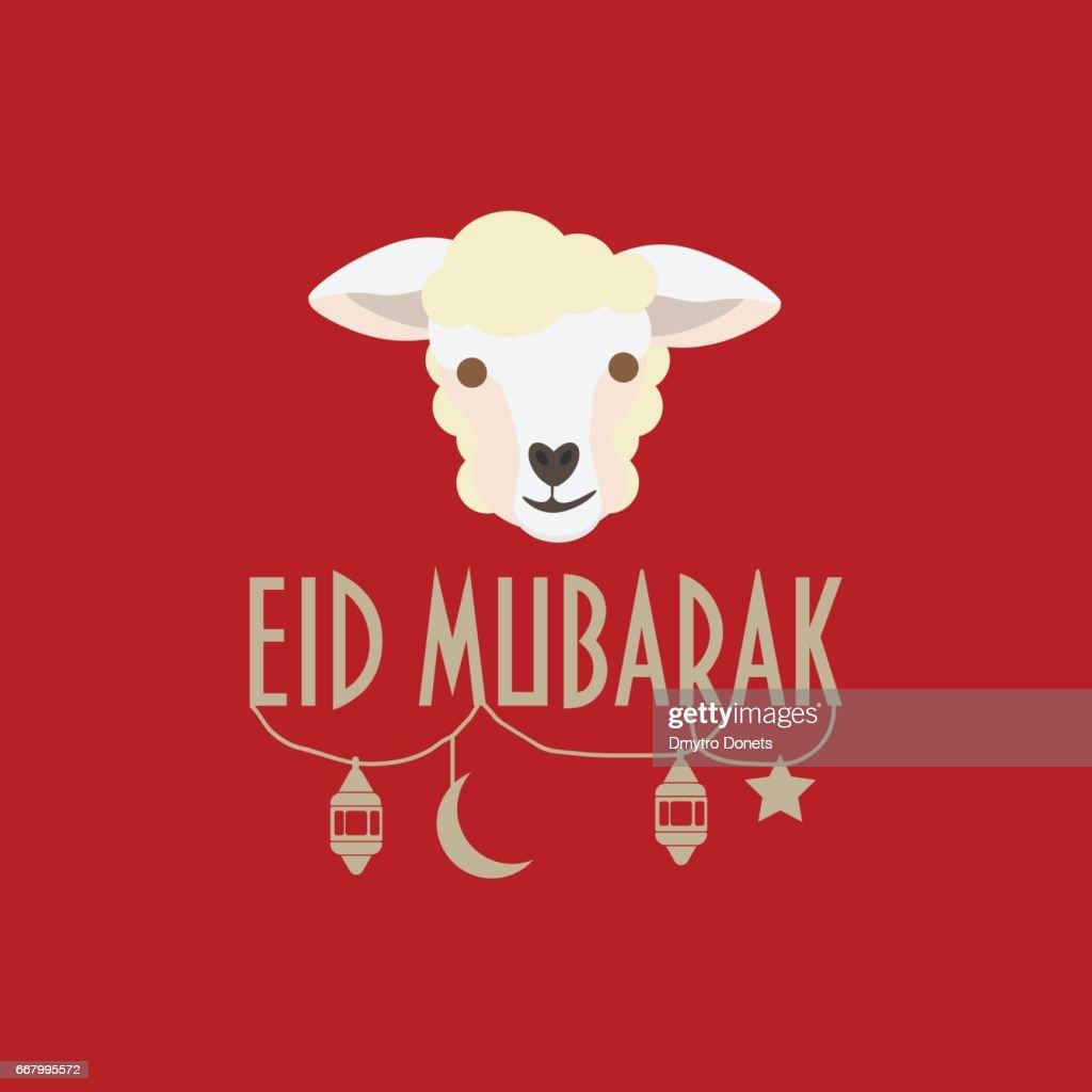 Eid Mubarak Greeting Card Eid Aladha Festival Of The Sacrifice