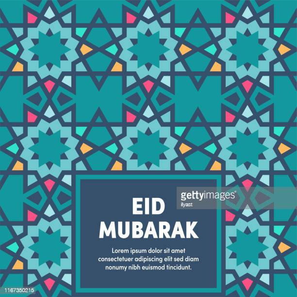 eid mubarak multipurpose business cover design - eid mubarak stock illustrations