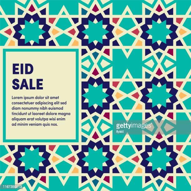 illustrations, cliparts, dessins animés et icônes de conception de couverture d'entreprise polyvalente de vente d'aïd - bonne fete de ramadan